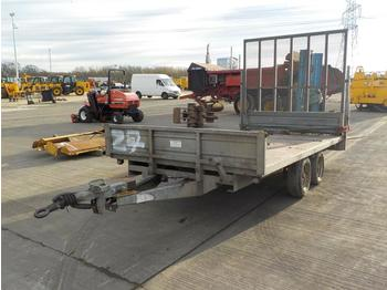 Indespension Twin Axle Dropside Plant Trailer, Ramp - open/ plateau aanhangwagen