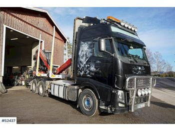 VOLVO FH16 6x4 Globetrotter Timber Truck with Crane - houttransport